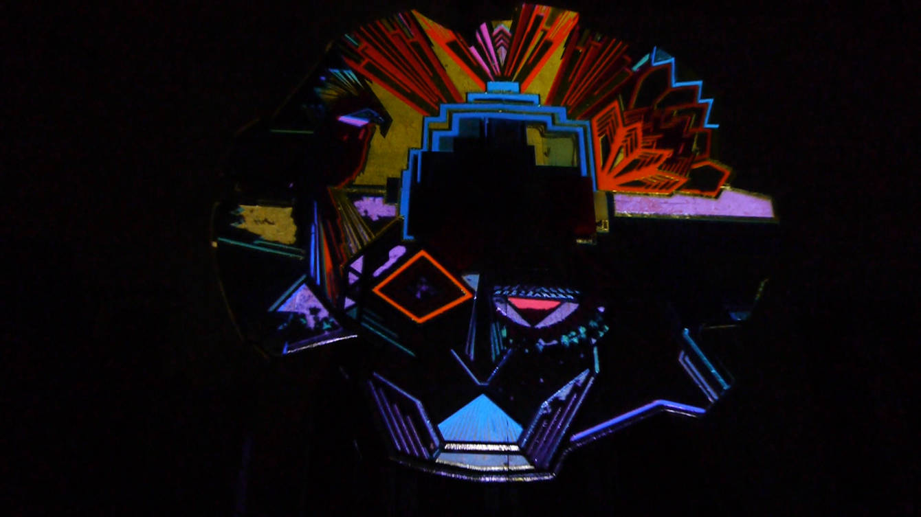 resorb projection mapping on tape art 3
