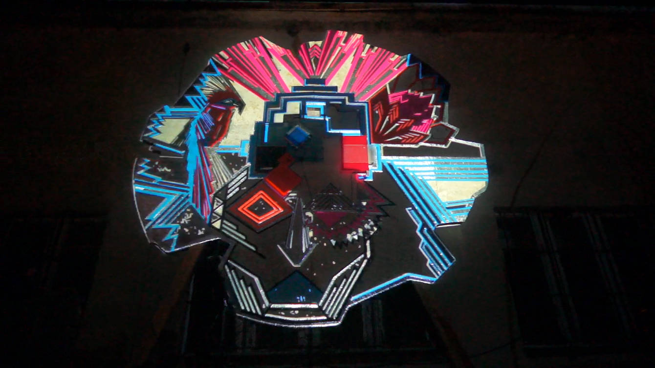 resorb projection mapping on tape art 1